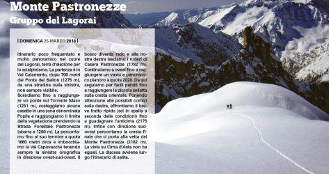 Monte Pastronezze – 25/03/18