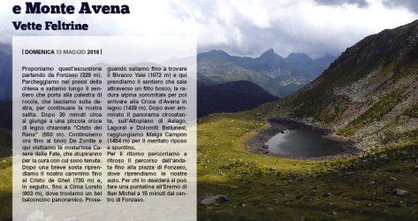 Cima Loreto e Monte Avena<br>13/05/2018