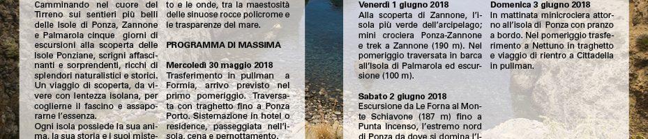 Arcipelago Ponziano30/05 – 03/06/2018