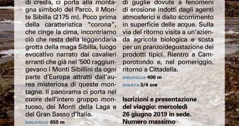 Trekking nei Monti Sibillini<br>04-05-06/10/2019
